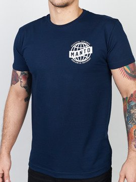 MANTO t-shirt MOVEMENT navy blue