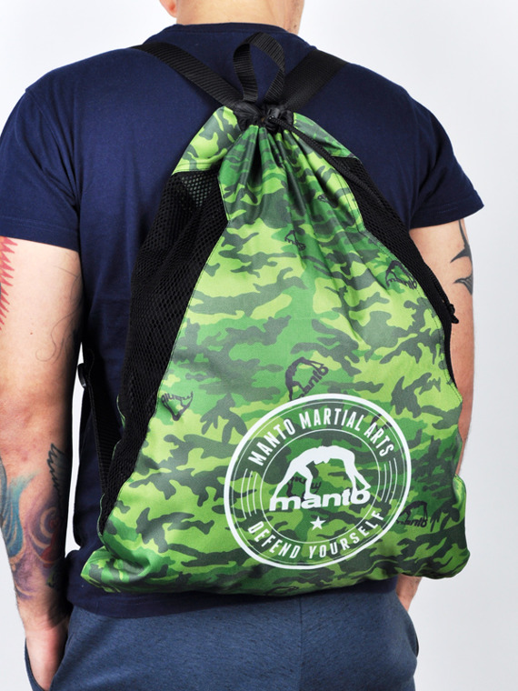 MANTO gym sack CAMO green