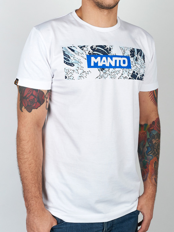 MANTO t-shirt WAVES white