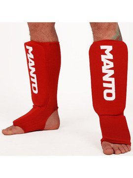 "MANTO ""LOGOTYPE"" Shinpad red"