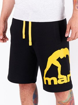 MANTO cotton shorts COMBO black