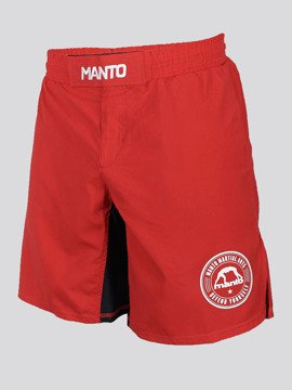 MANTO fight shorts BASICO red