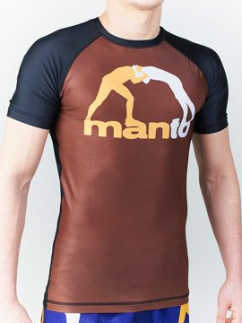 MANTO short sleeve rashguard CLASSIC brown
