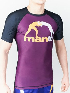 MANTO short sleeve rashguard CLASSIC purple