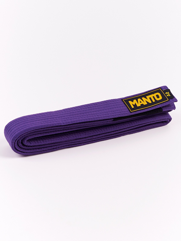 MANTO belt BJJ LOGOTYPE purple   BJJ GEAR \ BJJ BELTS   Top