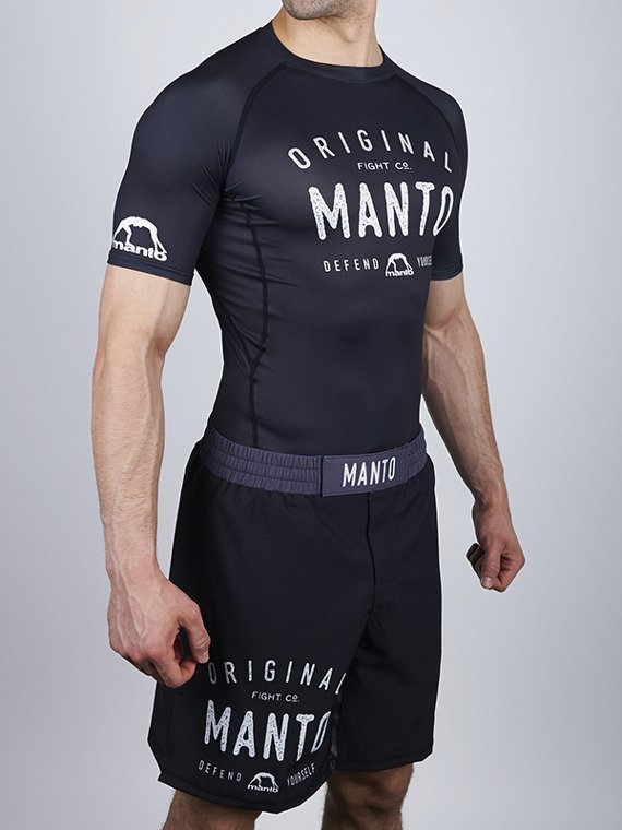 Combo rashguard + shorts OLDSCHOOL black