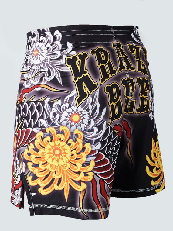 MANTO X Krazy Bee fight shorts DRAGON black