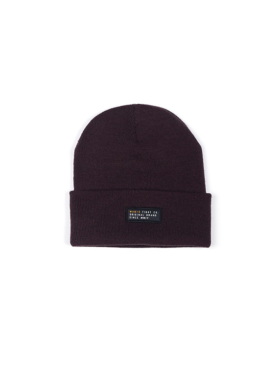 MANTO beanie LABEL burgundy