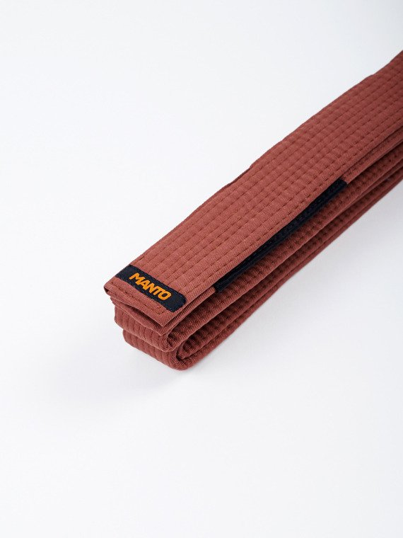 MANTO belt BJJ LABEL brown