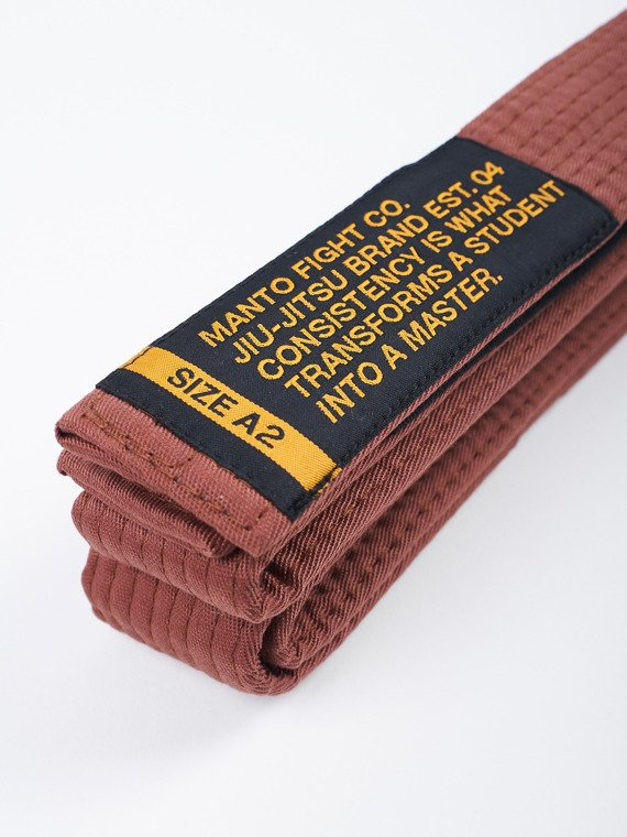 MANTO belt BJJ MOTTO brown