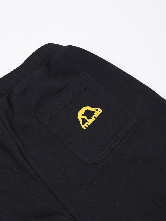 MANTO cotton shorts LOGOTYPE black and yellow