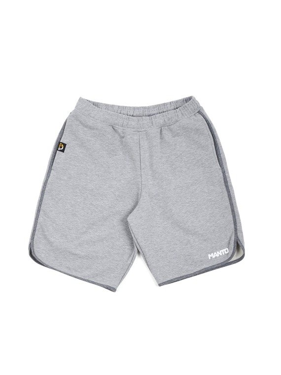 MANTO cotton shorts LOGOTYPE heather gray