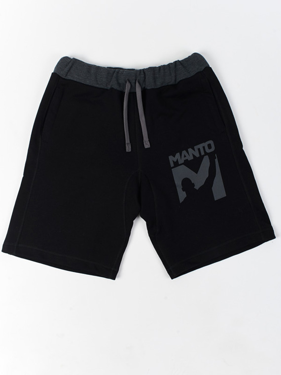 MANTO cotton shorts VICTORY black