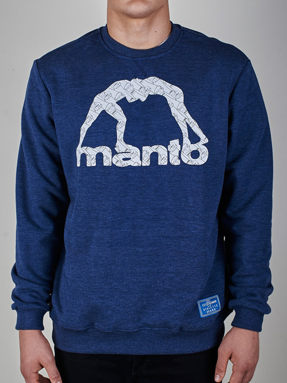 MANTO crewneck WRAPS denim blue
