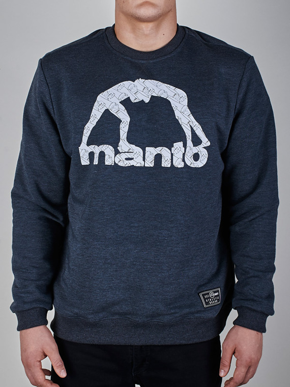 MANTO crewneck WRAPS graphite