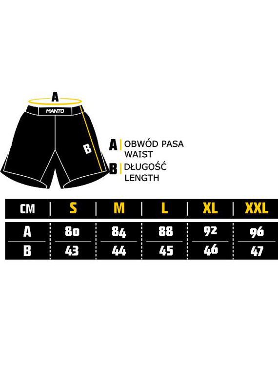 MANTO fight shorts DEFEND black/white