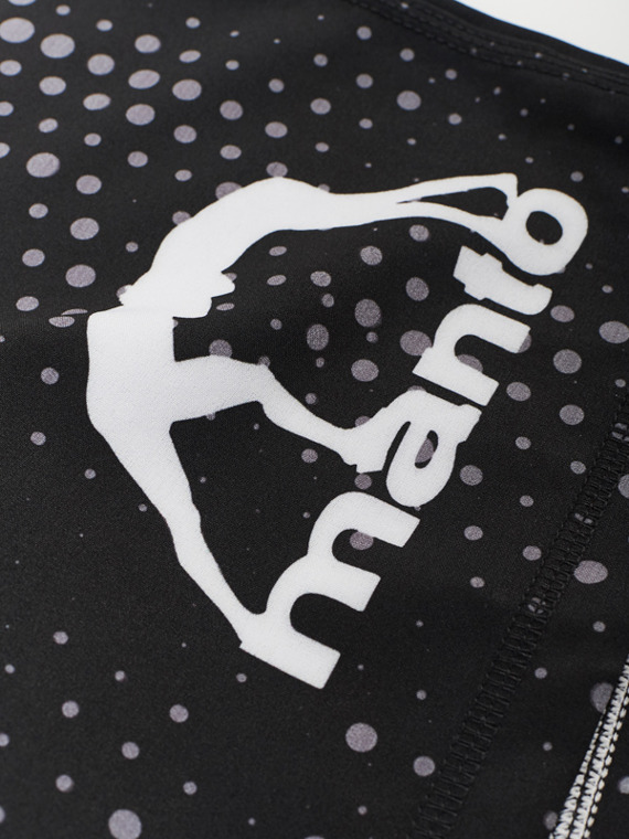 MANTO fight shorts DOTS black