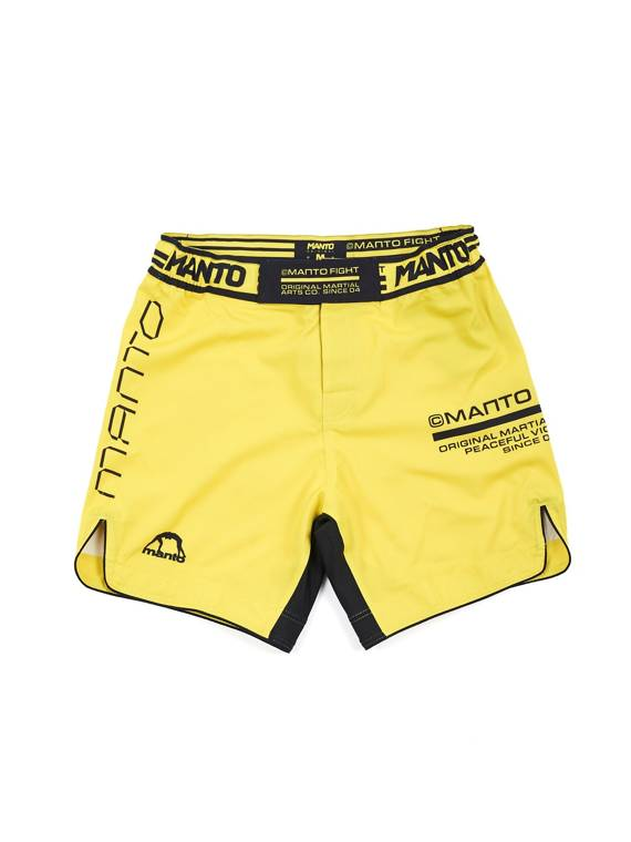 MANTO fight shorts FUTURE yellow