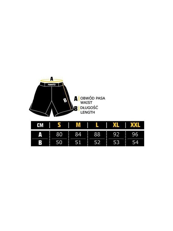 MANTO fight shorts GLOW black