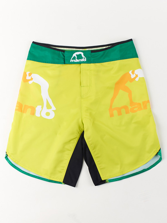 MANTO fight shorts GRADIENT yellow