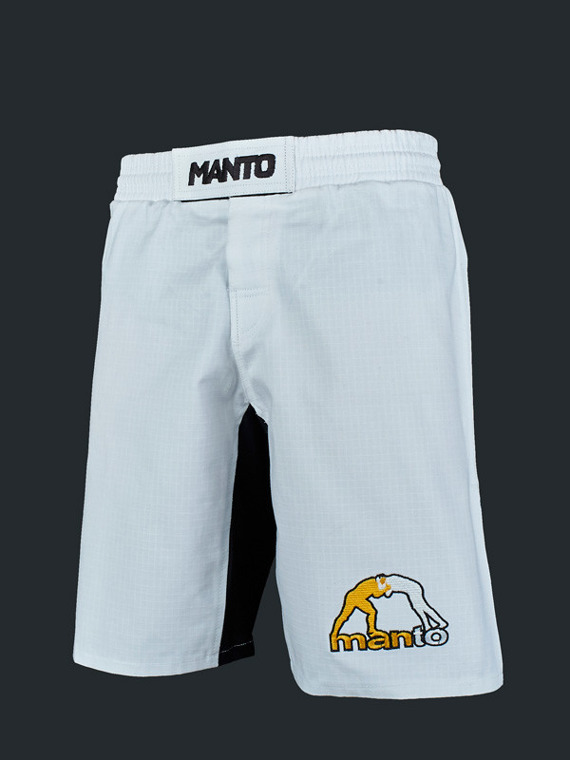 MANTO fight shorts LOGO RipStop 3.0 white