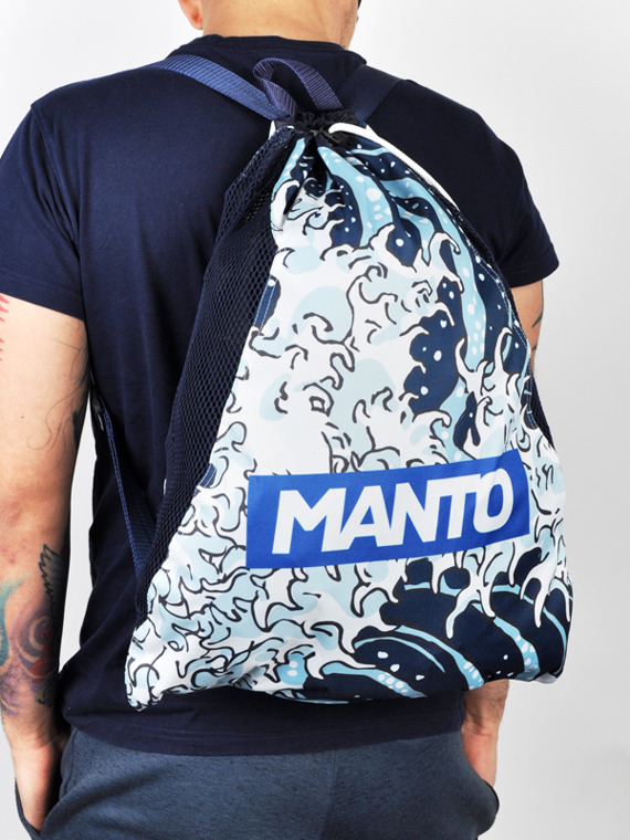 MANTO gym sack WAVES navy blue