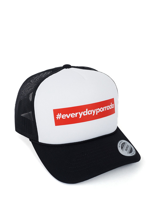 MANTO hat EVERYDAYPORRADA mesh foam black/white