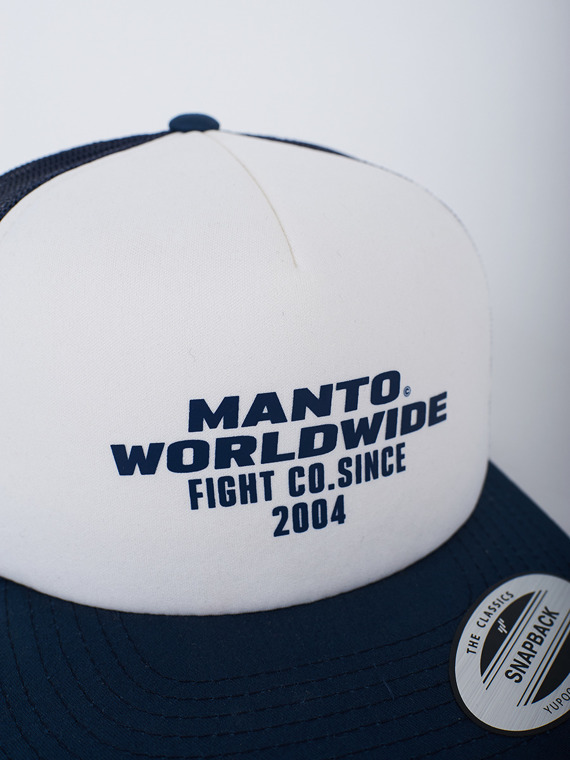 MANTO hat SINCE mesh foam navy blue/white