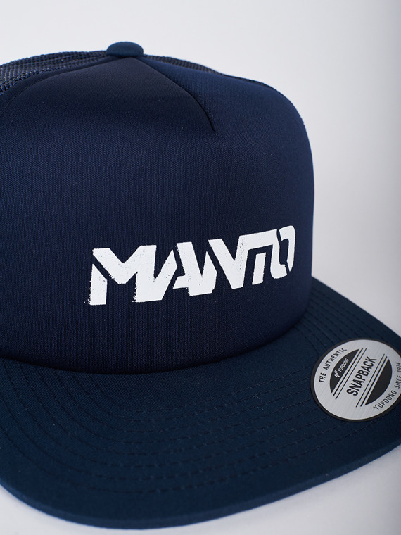 MANTO hat STENCIL mesh foam navy blue