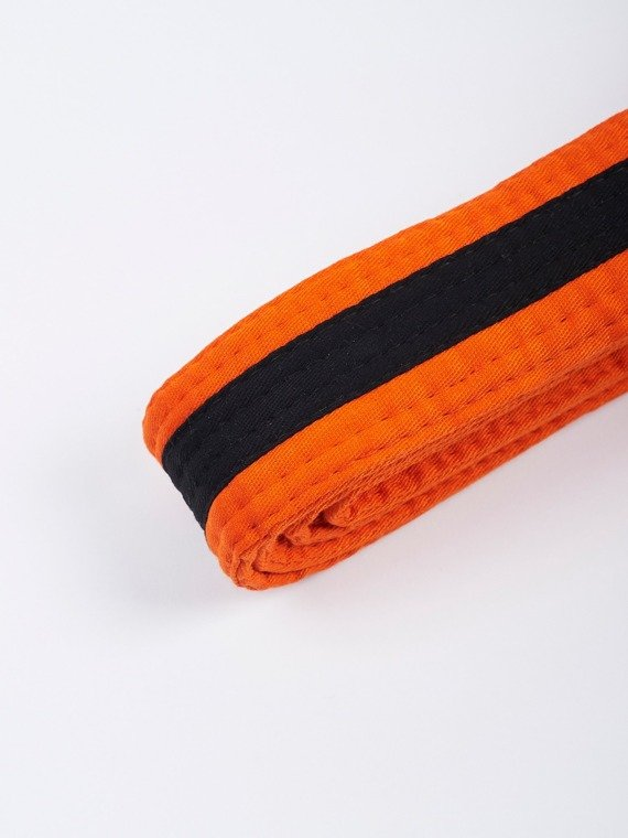 MANTO kids belt BJJ TAG orange with black stripe