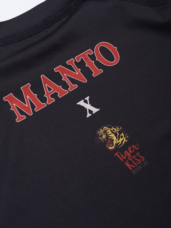 MANTO long sleeve rashguard CORAL black