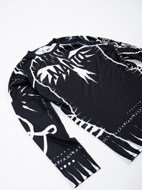 MANTO long sleeve rashguard VOODOO 2.0 black
