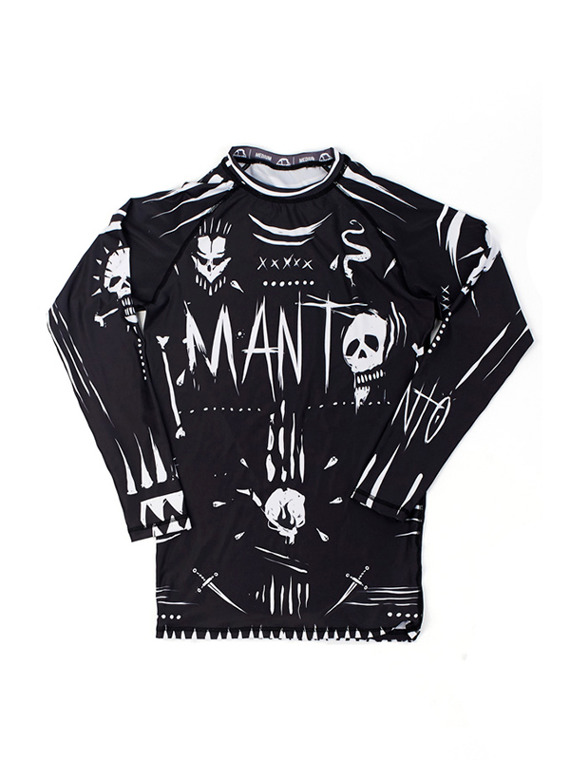 MANTO long sleeve rashguard VOODOO black
