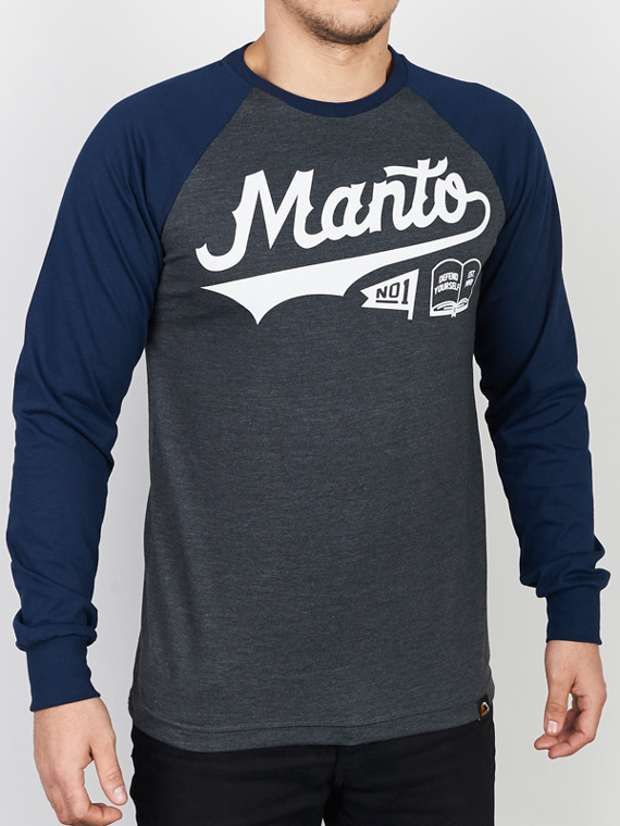 MANTO longsleeve NUMBER ONE graphite