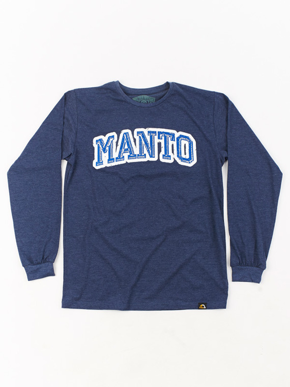 MANTO longsleeve SOLID navy blue