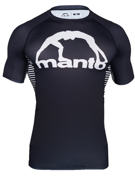 MANTO rashguard LOGO black/white