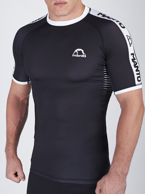 MANTO rashguard STRIPE black
