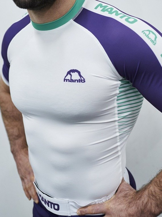 MANTO rashguard STRIPE white