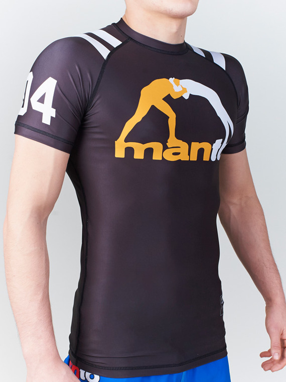 MANTO short sleeve rashguard 04 black