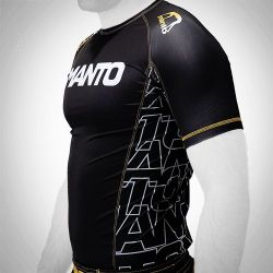 MANTO short sleeve rashguard DYNAMIC black/yellow