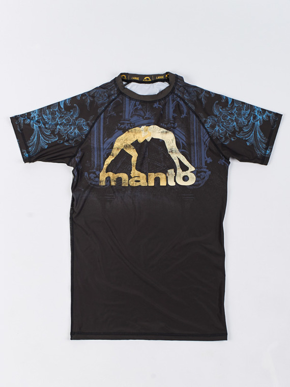 MANTO short sleeve rashguard GO IN PEACE black