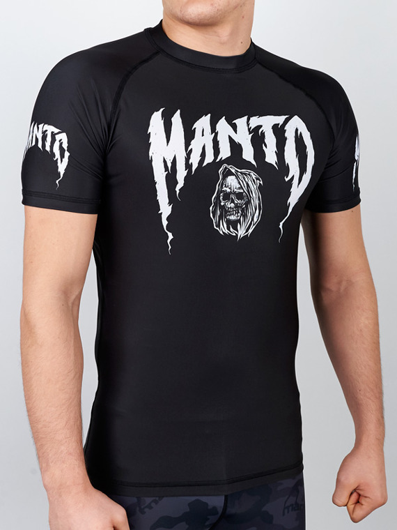MANTO short sleeve rashguard GRIM black