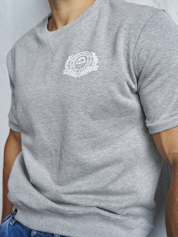 MANTO short sleeve sweatshirt STAMP heather grey