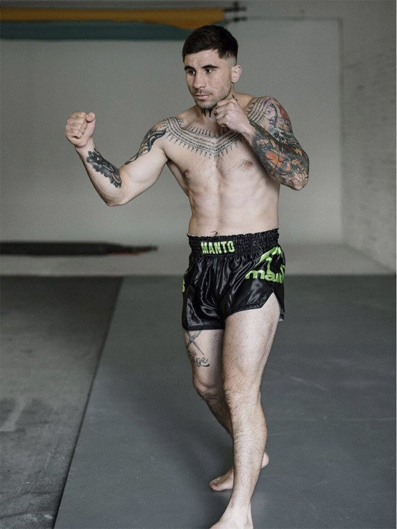 MANTO shorts MUAY THAI DUAL black/green