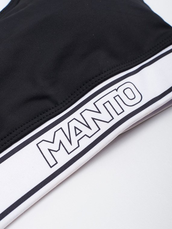 MANTO sports bra LOGO black