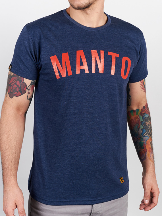 MANTO t-shirt ARC denim blue