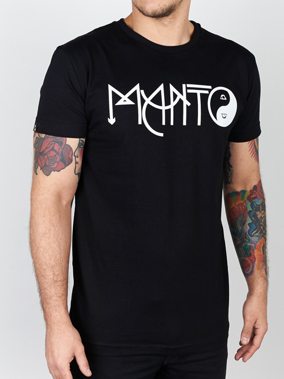 MANTO t-shirt BALANCE black