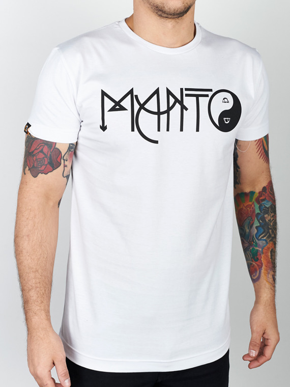 MANTO t-shirt BALANCE white