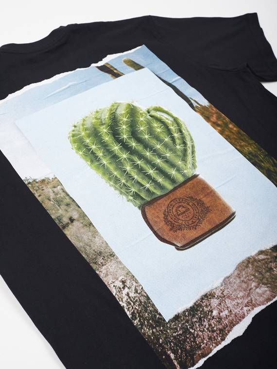 MANTO t-shirt CACTUS black