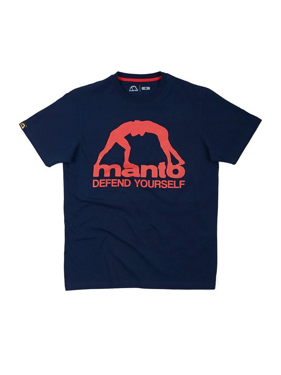 MANTO t-shirt DEFEND YOURSELF navy blue
